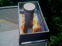 Acworth's Best Gutter Cleaners' Certainteed Certified roofers can install or replace your custom chimney pan.